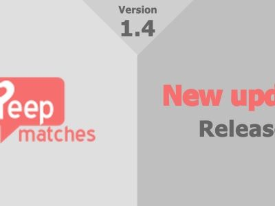 Peepmatches new version 1.4 released